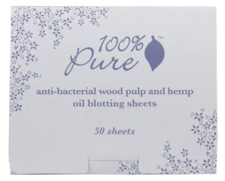 100% Pure Anti Bacterial Wood Pulp Oil Blotting Paper - 50stk