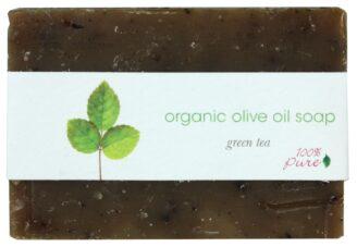 100% Pure Green Tea Organic Olive Oil Soap - 99g
