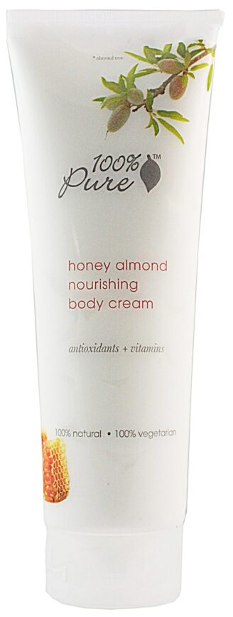 100% Pure Honey Almond Nourishing Body Cream - 236ml