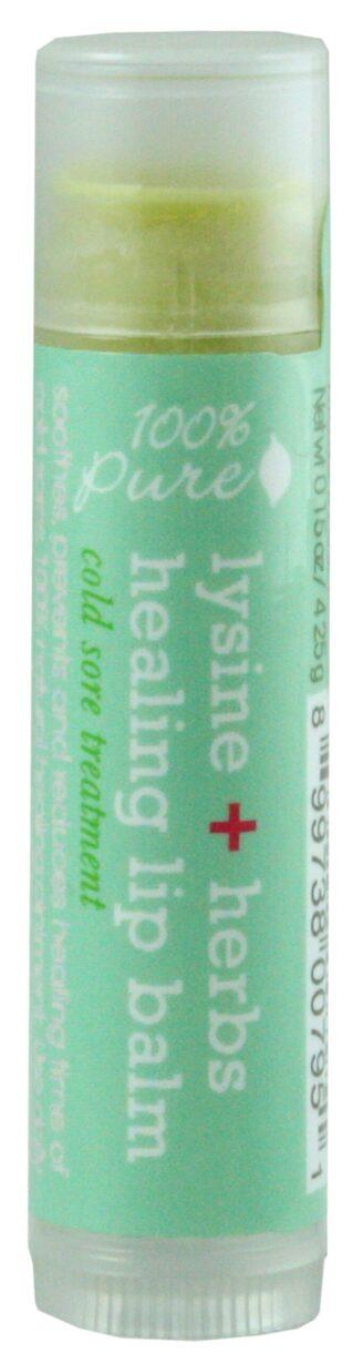 100% Pure Lysine + Herbs Healing Lip Balm - 4.25g