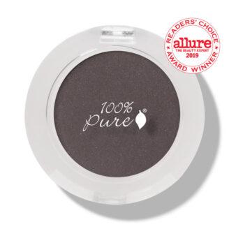 100% Pure Fruit Pigmented Eye Shadow: Black Platinum- 2g