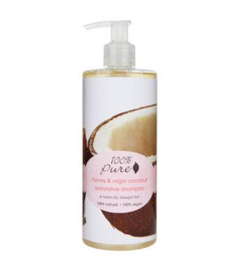 100% Pure Honey & Virgin Coconut Restorative Shampoo - 390ml