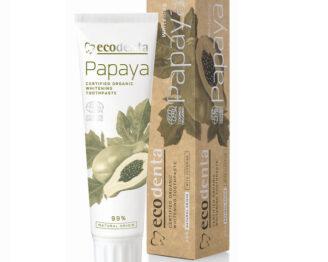 ECODENTA Organic Whitening Toothpaste Papaya (med fluor) -100 ml