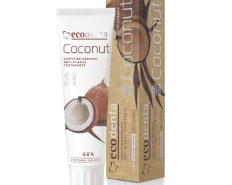 ECODENTA Organic Anti-plaque Toothpaste Coconut (uten fluor) - 100 ml