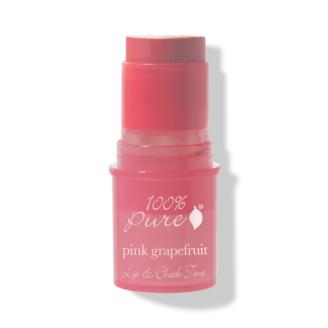 100% Pure Pink Grapefruit Glow Lip & Cheek Tint - 7.5g