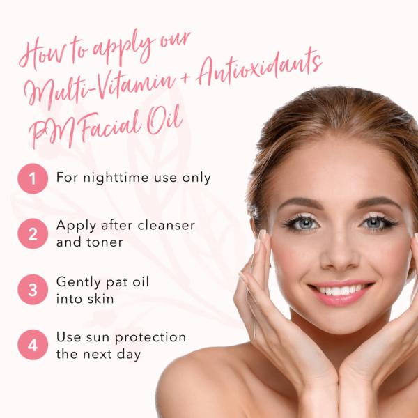 100% Pure Multi-Vitamin + Antioxidants PM Facial Oil -30 ml