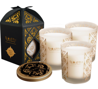 Bodhi Spa Natural Soy Scented Candles - 3 stk