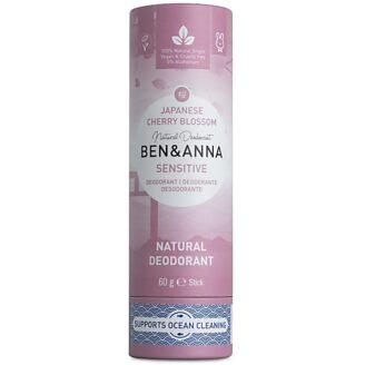 Ben & Anna Natural Deodorant Papertube Sensitive - Cherry Blossom -  60 gr