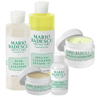 Hudpleiepakke: Mario Badescu Starter Kit for normal til fet hud, med kviser og urenheter - 5 stk