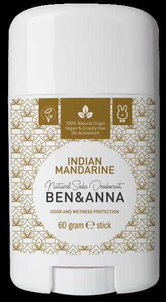 Ben & Anna Natural Deodorant Stick- Indian Mandarine - 60 gr