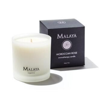 Malaya Organics Aromatherapy Candle Moroccan Rose - 283 gr