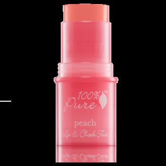 100% Pure Peach Glow Lip & Cheek Tint - 7.5g