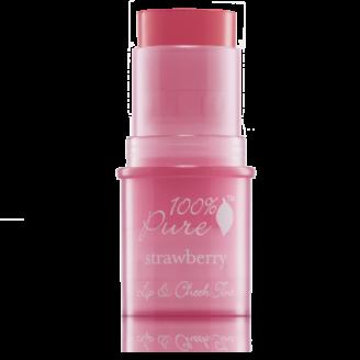 100% Pure Shimmery Strawberry Lip & Cheek Tint - 7.5g
