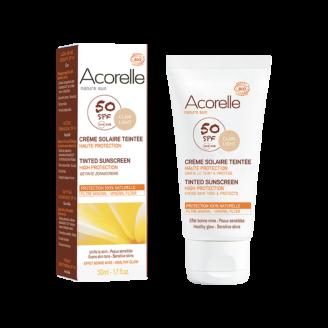 Acorelle Tinted Sun Cream spf 50 - Clair Light - 50ml
