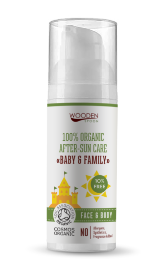 """Wooden Spoon 100% Organic After Sun Care """" Baby & Family"""" - 50 ml"""