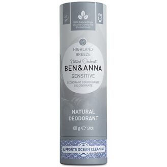 Ben & Anna Natural Deodorant Papertube Sensitive - Highland Breeze -  60 gr