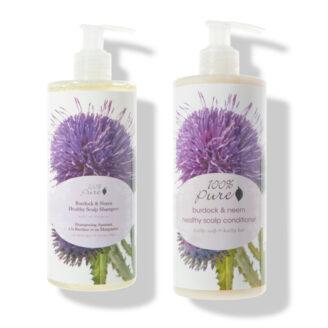 100% Pure Burdock & Neem Healthy Scalp Shampoo & Conditioner -2x  390ml