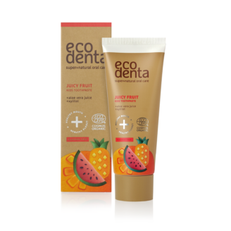 ECODENTA Organic Juicy Fruit Kids Toothpaste (uten fluor) - 75 ml