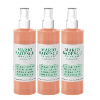 Hudpleiepakke: Mario Badescu Facial Spray with Aloe, Herbs and Rosewater - 236 ml x 3