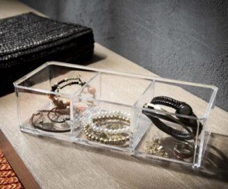 Jewelry Organizer – Smykkeskrin med 3 Beholdere