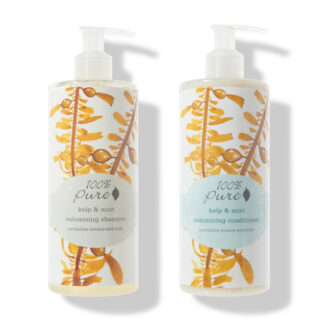 100% Pure Kelp & Mint Volumizing Shampoo & Conditioner -2 x 390ml