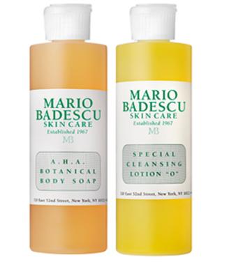 Mario Badescu AHA Botanical Body Soap og Special Cleansing Lotion O