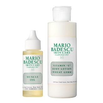 Mario Badescu Muscle Oil og Vitamin E Body Lotion