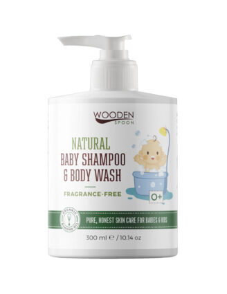 Wooden Spoon Natural Baby Shampoo & Body Wash - Fragrance Free -  300 ml