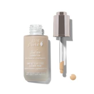 100% Pure 2nd Skin Foundation: Shade #2- 35 ml