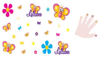 Lallabee stickers til tatovering av negler og hud - giftfrie og trygge for barn