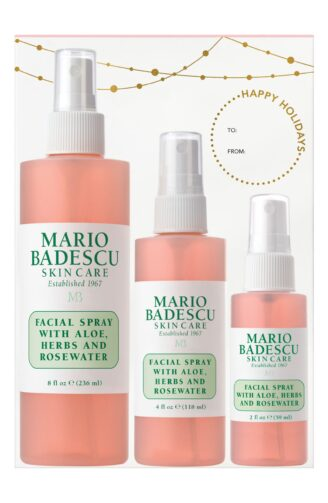 Hudpleiepakke Mario Badescu Facial Spray with Herbs, Aloe and Rose Hips - 3 stk Limited Edtion