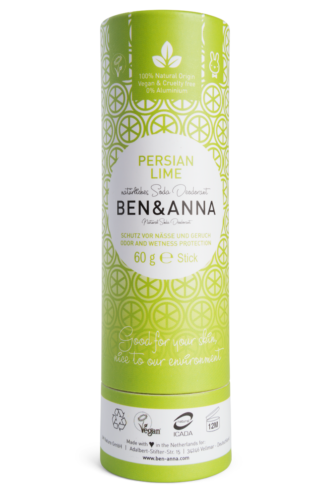 Ben & Anna Natural Deodorant Papertube- Persian Lime - 60 gr