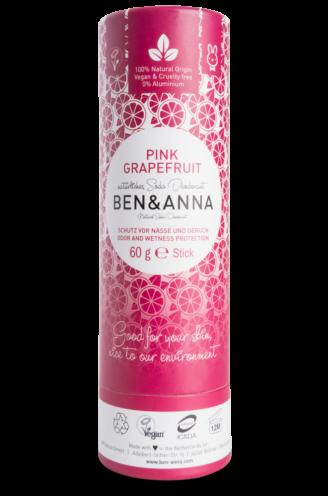 Ben & Anna Natural Deodorant Papertube- PInk Grapefruit - 60 gr