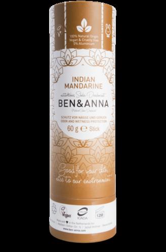 Ben & Anna Natural Deodorant Papertube- Indian Mandarine - 60 gr