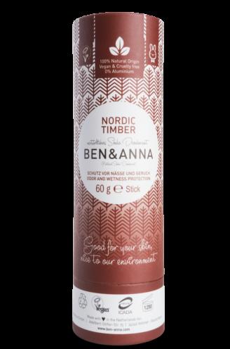 Ben & Anna Natural Deodorant Papertube- Nordic Timber - 60 gr
