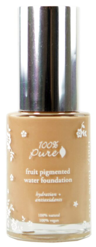 100% Pure Sheer Water Foundation: Peach Bisque - 30ml