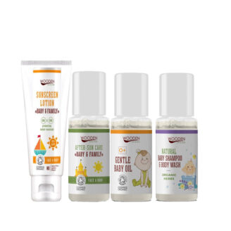 Wooden Spoon Travel Kit - Baby Care - 4 produkter