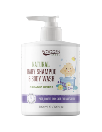 Wooden Spoon Natural Baby Shampoo & Body Wash - Organic Herbs -  300 ml