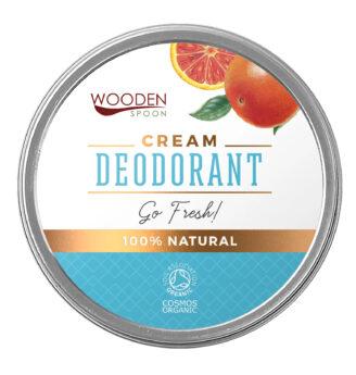 "Wooden Spoon 100% Natural Cream Deodorant - ""Go Fresh""- 60 ml"