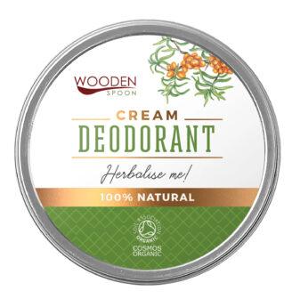 """Wooden Spoon 100% Natural Cream Deodorant - """"Herbalise me""""- 60 ml"""