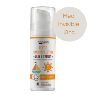 wooden spoon organic sunscreen spf 30 med invisible zinc