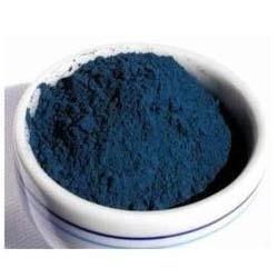 Blå syntetisk farge