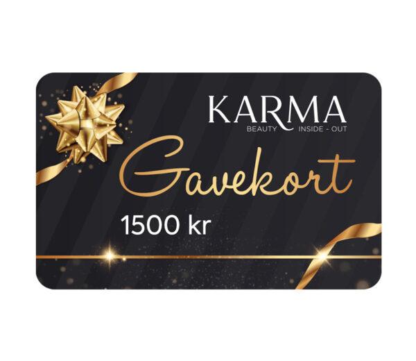 Karma gavekort 1500 kr