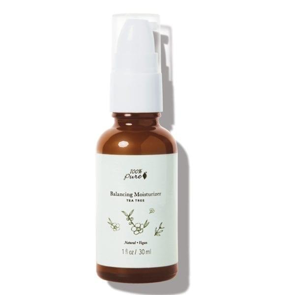 100% Pure balancing moistruiser for fet hud og kviser tea tree