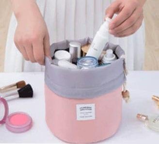Makeupbag - rosa med snøring
