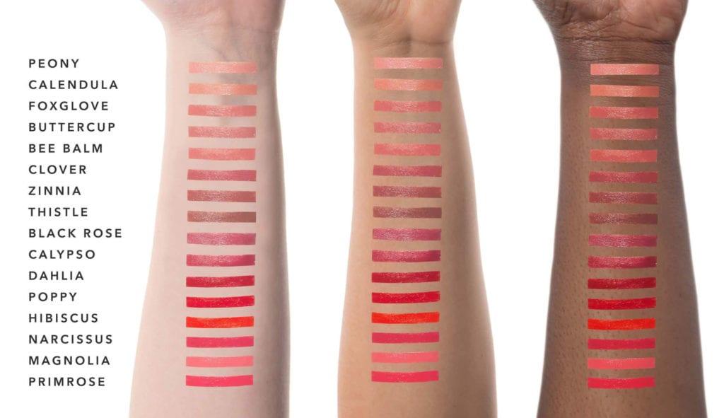 pomegranate oil lipstick swatches