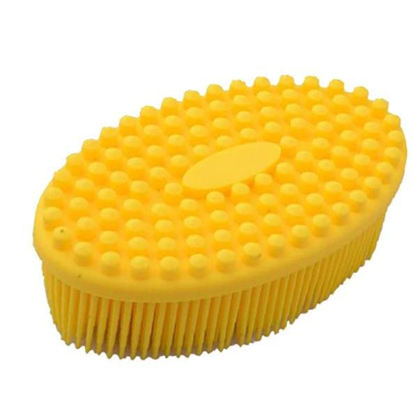 Dusj og bade silikonbørste gul