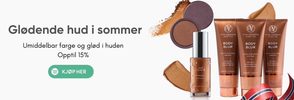Glødende hud og farge i sommer