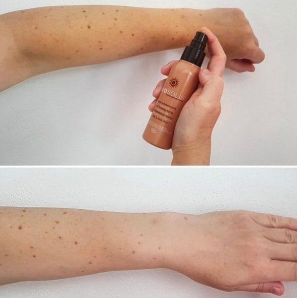 Biosolis selvbruning før og etter