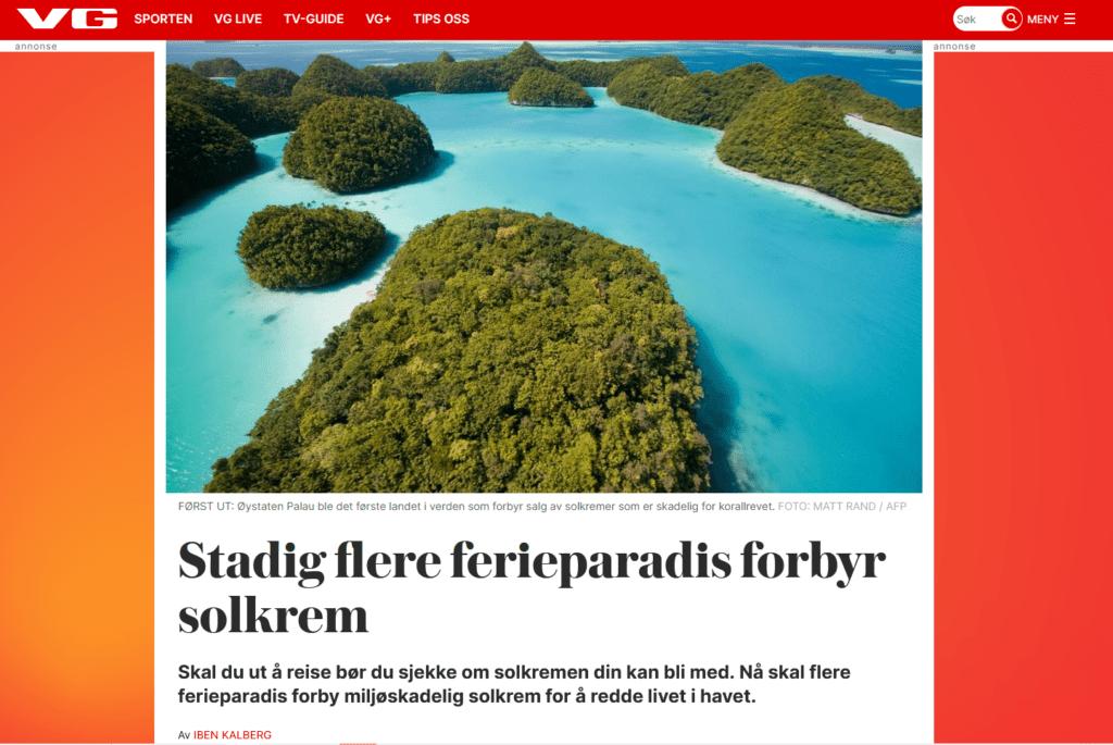 Ferieparadiser forbyr skadelig solkrem